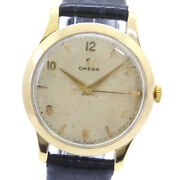 Super 10 Items To Be Off Omega Cal.283 K18 Yellow Gold Razor Hand-wound Mens