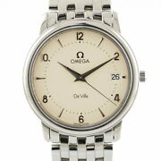 Secondhand Omega Ss Wristwatch Devil Deville Silver Mens Fashionable Itand039s Cool.