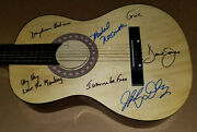 The Monkees Davy Jones Michael Nesmith Micky Dolenz Signed On Body 38 Guitar Bas