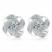 2ct Round Cut White American Diamond Engagement Earring 14k White Gold Over.