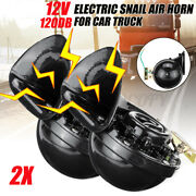 2pcs 12v 120db Electric Snail Air Horn Loud For Atuo Car Motorcycle Truck Rv