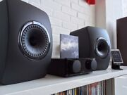 Kef Ls50 Speakers Limited Black Edition Pair Good Condition