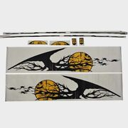 Four Winns Boat Side Decal 055-3290 | Yellow Black Set Of 8
