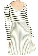 Guess Womens Dresses White Ivory Size Medium M Sweater Striped Knit 108 405