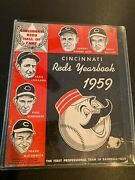 1959 Cincinnati Reds Yearbook In Quality Condition And Protective Case