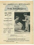 All American Boy Games Baseball Contest Flyer 1, 1945 Carl Hubbell Seattle Post