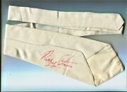 Beatles Ringo Starr Owned And Worn White Cotton Tie Full Signature Tracks Loa