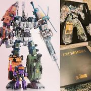 Warbotron Wb01 Bruticus Combiner Set 5 Figures Usa In-hand New