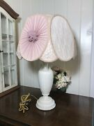 Antique Alacite Aladdin Electric Table Lamp And Victorian Style Lamp Shade