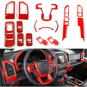 16pc Interior Center Console Dashboard Trim Cover Bezels Kit For Ford F150 2015+