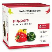 Gardening Kit - Includes 4 Types Of Hot And Sweet Pepper Seeds, Planting Pots,