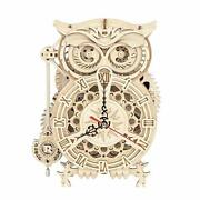 3d Wooden Puzzle Owl Clock Kit Model Kits To Build For Adults Unique Gift For