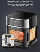 Moosoo Air Fryer Oven Combo With Double Glass Window 1600w Air Fryer Toaster Ove