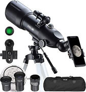 Esslnb Telescopes For Adults Kids Astronomy Beginners 80mm Astronomical With 10x