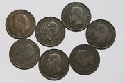 France 5 Centimes 1856 All Different Mints - 7 Coins B34 Dd37