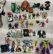 Lot Of 25 Imaginext Dc Figures Heroes And Lots Of Accessories Batman Superman