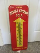 Vintage Advertsing Royal Crown  Soda Fountain Store Tin Thermometer A-590