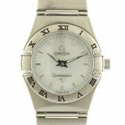 Secondhand Omega Ss Wristwatch Constellation Silver White Women And039s Fashionable