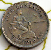Coin Philippines 5c 1903 Xf 31-108