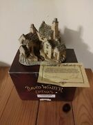 David Winter Cottages 1983 Fisherman's Wharf, Original Box, And Coa Collectible