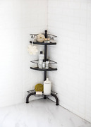 3 Tier Corner Shower Caddy With Adjustable Shelves - Oil Rubbed Bronze