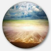 Designart 'exotic Beach On Cloudy Summer Day' Contemporary Extra Large