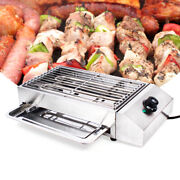 Bbq Portable Electric Grill Griddle Barbecue Indoor/outdoor Smokeless Cooking Us