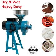110v Electric Grain Mill Dry Wet Grinder Corn Wheat Feed Cereals Coffee Machine