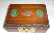 Chinese/oriental Antique/vintage Wooden Scholars Box / Poker Playing Card Box