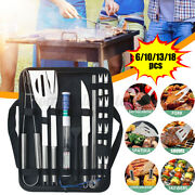 13/18pcs Bbq Grill Accessories Tools Set Stainless Steel Grilling Barbecue Tool