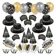 Ballroom Bash New Yearand039s Party Kit 100 Guests Hats Noisemakers Accessories