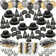 Ballroom Bash New Year's Party Kit 300 Guests, Hats, Noisemakers, Accessories