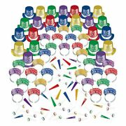 Colorful Opulent Affair New Year's Party Kit For 300 Guests, Includes Hats