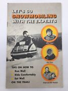 Vintage Bombardier Ski Doo Snowmobile Booklet 1974 Snowmobiling With The Experts