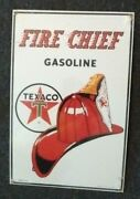 Fire Chief Texaco Metal Sign Ande Rooney Office Wall Home Garage Shop Decor