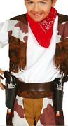 Boys Girls Cowboy Double Gun Holster And Toy Pistols Wild West Fancy Dress Costume