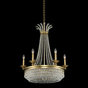 Kalco 033970-fr001 Tavo 9 Light 26w Taper Candle Style Empire - Winter Brass
