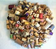 Lot Of 219 Antique Vintage Wooden Thread Spools Mixed Sizes/brands/makers/ages