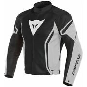 Men's Jacket Dainese Air Crono 2 Tex Black Gray Size 46 Moto Perforated Summer