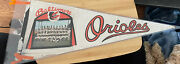 Vintage 1962 Baltimore Orioles Team Picture Pennent Full Size