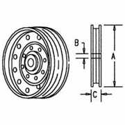 Flanged Idler Pulley Compatible With John Deere 9400 6620 9600 7720 9650 9500