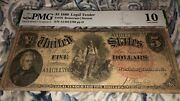 1880 5 United States Woodchopper Legal Tender Note - Pmg Today P