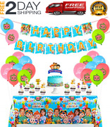 Cocomelon Birthday Party Decorations Supplies Kit For Kids With Banner Table