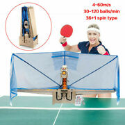 Automatic Table Tennis Robot Ping Pong Ball Train Machine W/remote+catch Net Usa
