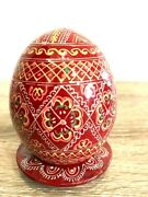 Holiday Souvenir Shaped Wooden Easter With Eggs Egg Russian For Stand New Deco