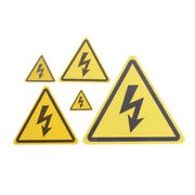 2pcs Danger High Voltage Electric Warning Safety Label Sign Decal Sticker_ Tboaw