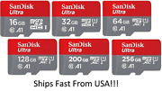Sandisk Micro Sd 32gb 64gb 128gb Class 10 Sdhc Sdxc Memory Card And Adapter Lot