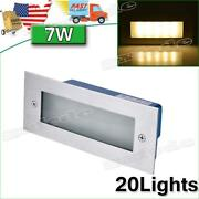 20x Led Wall Light Recessed Step Outdoor Warm White Park Staircase Pathway Light