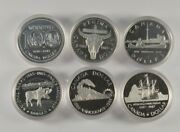 Set Of 6 Canadian Commemorative Silver Dollars 1974 1982 1984-1987