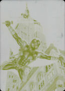 2017 Ultra Spider-man Printing Plate 1/1 Deadpool Empire State Building Yellow